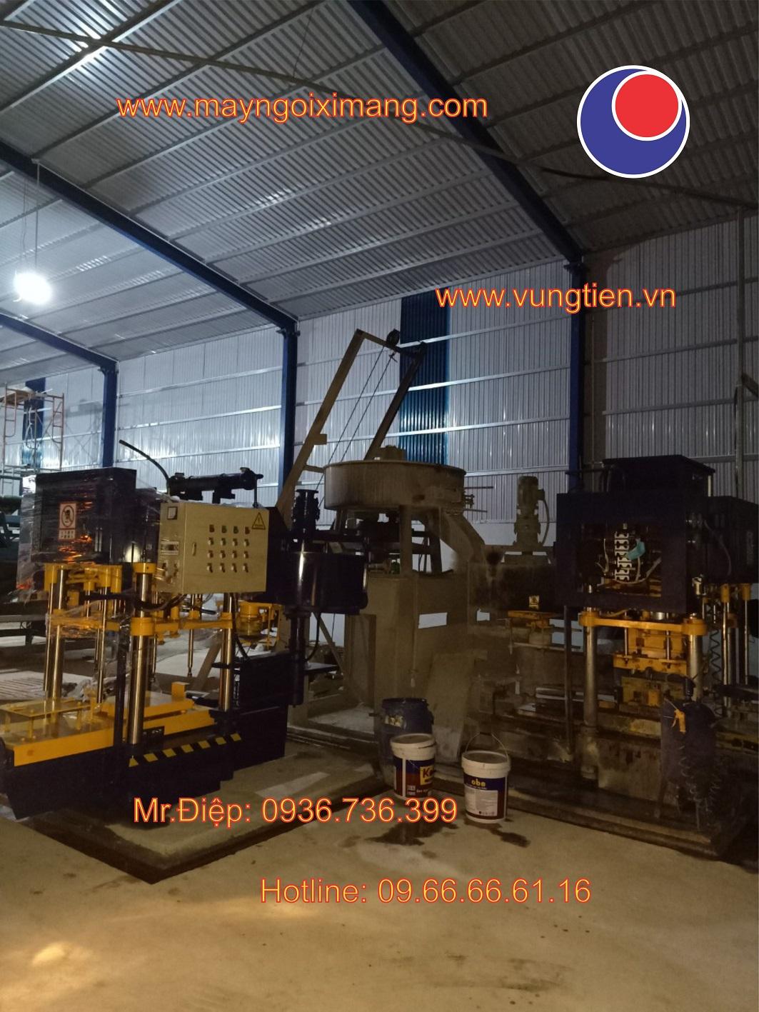 Lắp ráp máy ngói xi măng tháng 022020